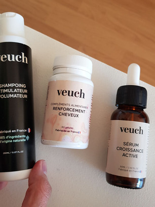 J'ai testé le traitement anti-chute de cheveux de Veuch, mon avis