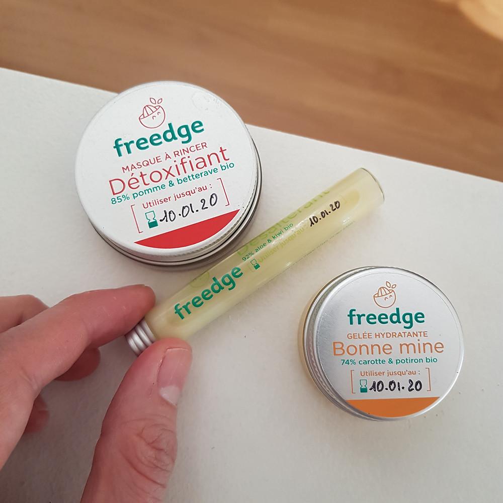 Freedge Beauty produits ultra frais