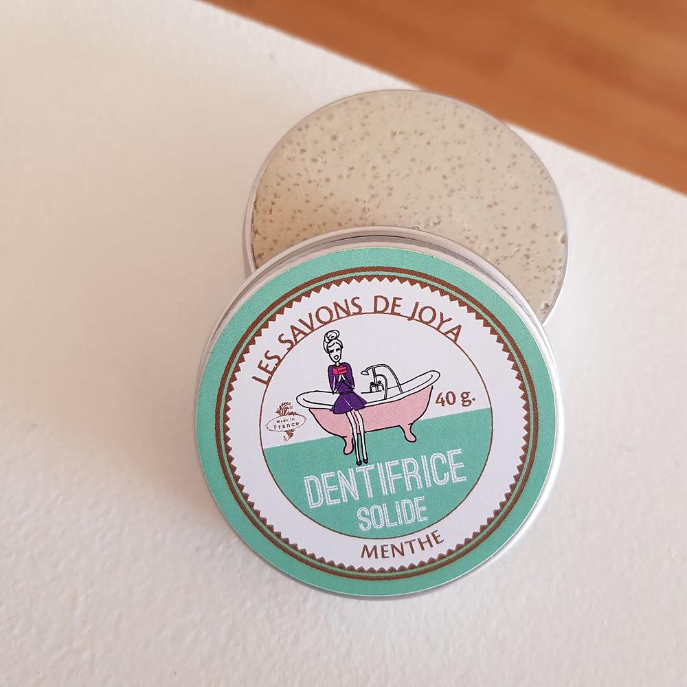 dentifrice solide à la menthe Les savons de Joya