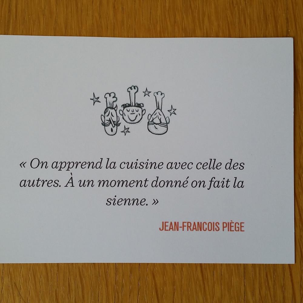 Mot de Jean-François Piège