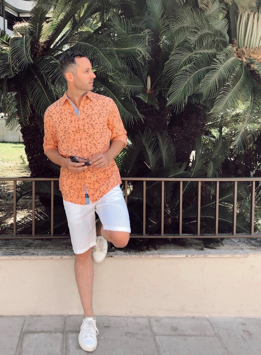 chemise en lin orange La Compagnie du Lin