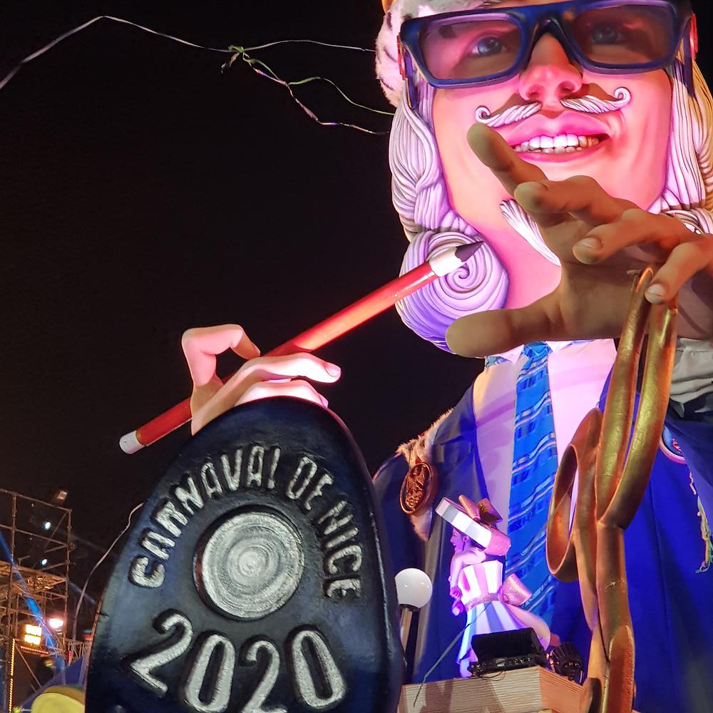 Carnaval de Nice corso nocture illumine
