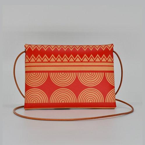 Small printed Leather bag