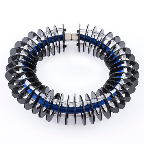 contemporary greek jewelry Misineza vinyl tunnel bracelet