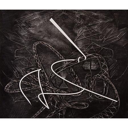 Kapnisis untitled, charcoal and acrylic