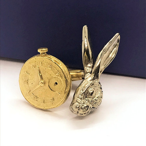 lewis carrol alice jewelry Myrogianni cufflinks