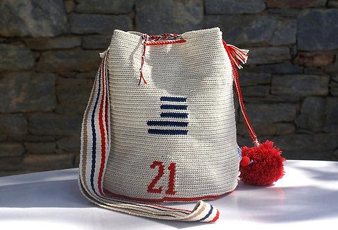 Greek Revolution Cross Body Tapestry Crochet Bag