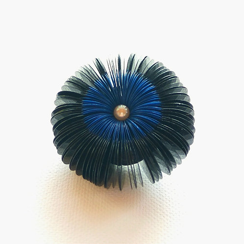 contemporary greek jewelry Misineza vinyl urchin brooch