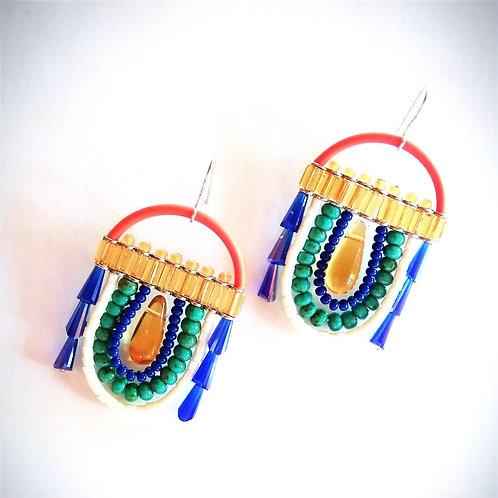 contemporary greek jewelry Misineza beads majestic earrings