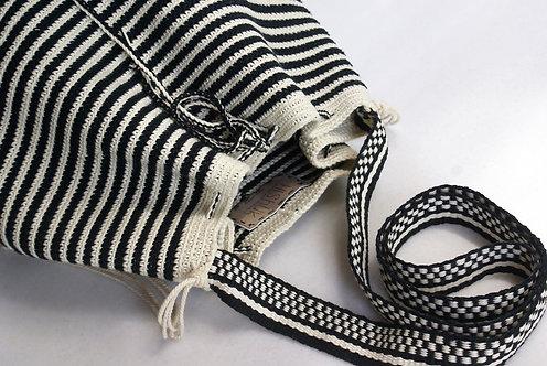 Black and White Handmade Crochet Bag