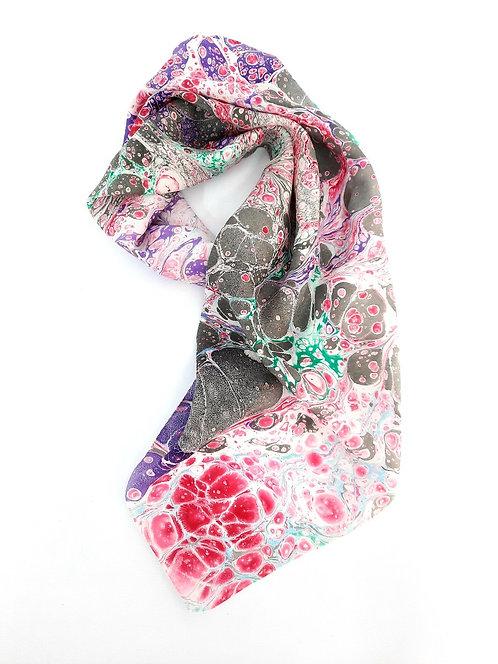 Kate ecru marbling silk scarf buy online