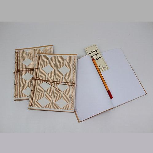 Parnes Rhombi Leather Bound Notebook