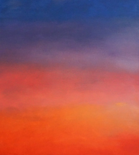 Sky oil on canvas contemporary Greek painting Niki Gulema buy online
