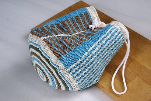 Multicoloured Handmade Crochet Backpack