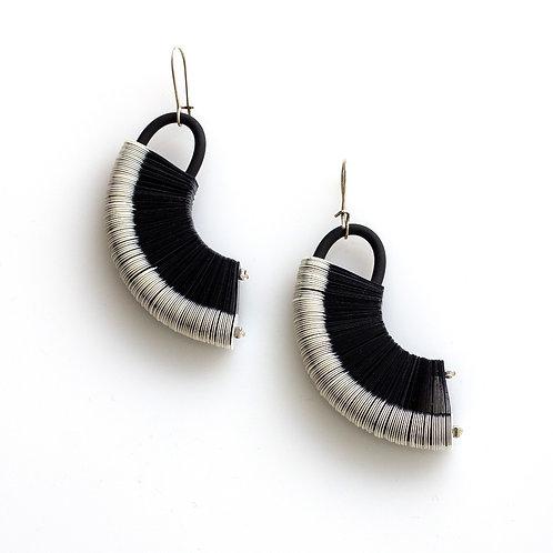 contemporary greek jewelry Misineza vinyl ellipse earrings