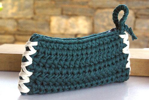 Handmade Crochet Zipper Clutch Bag