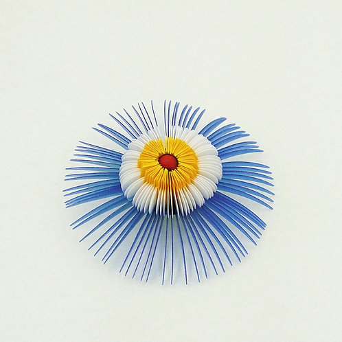 contemporary greek jewelry Misineza vinyl flower brooch