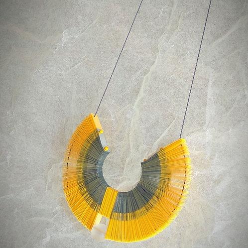 aura pendant necklace misineza vinyl jewelry