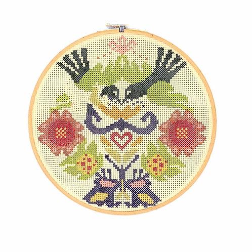 greek embroidery hoop art handmade folk art