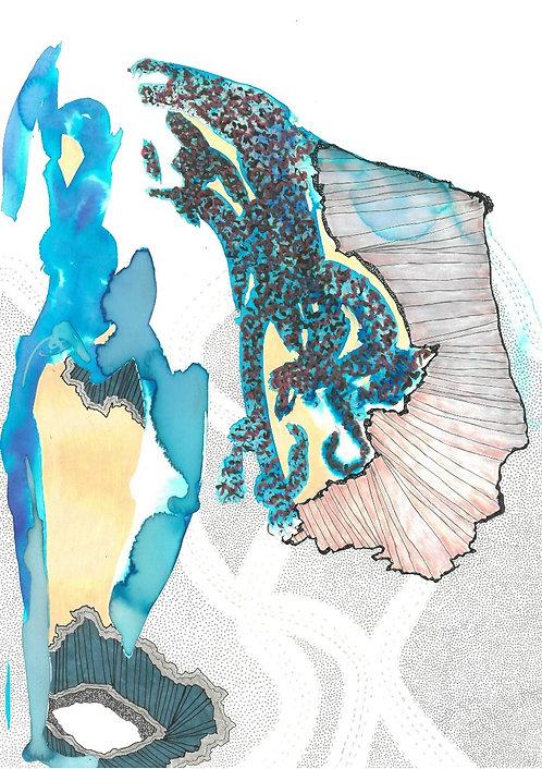 contemporary greek art mixed media on paper Vea