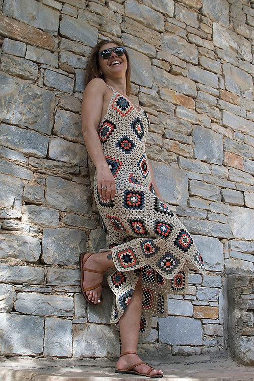 Handmade Crochet Maxi Dress