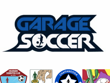 Colorado, Portland, Tucson and Chattanooga Subbuteo clubs join Garage Soccer