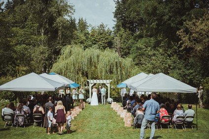 Campbell River Wedding Photographer at Outdoor Wedding Loation