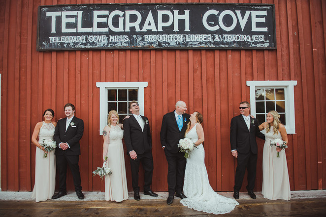 Wedding Party at Telegraph Cove wedding