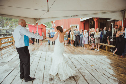 Telegraph Cove Wedding first dance between bride and groom