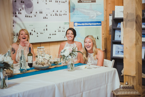 Wedding Reception at Telegraph Cove
