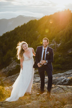 Mountain Top Elopement from Campbell Riv