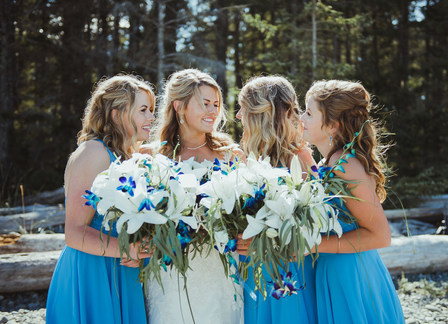 Campbell River BC Wedding Photographer with Bridesmaids