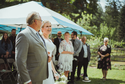 Campbell River Wedding Photographer at Outdoor Wedding