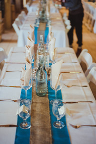 Telegraph Cove Wedding Reception table settings