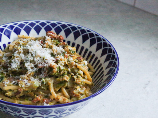 Bacon and Brussels Carbonara