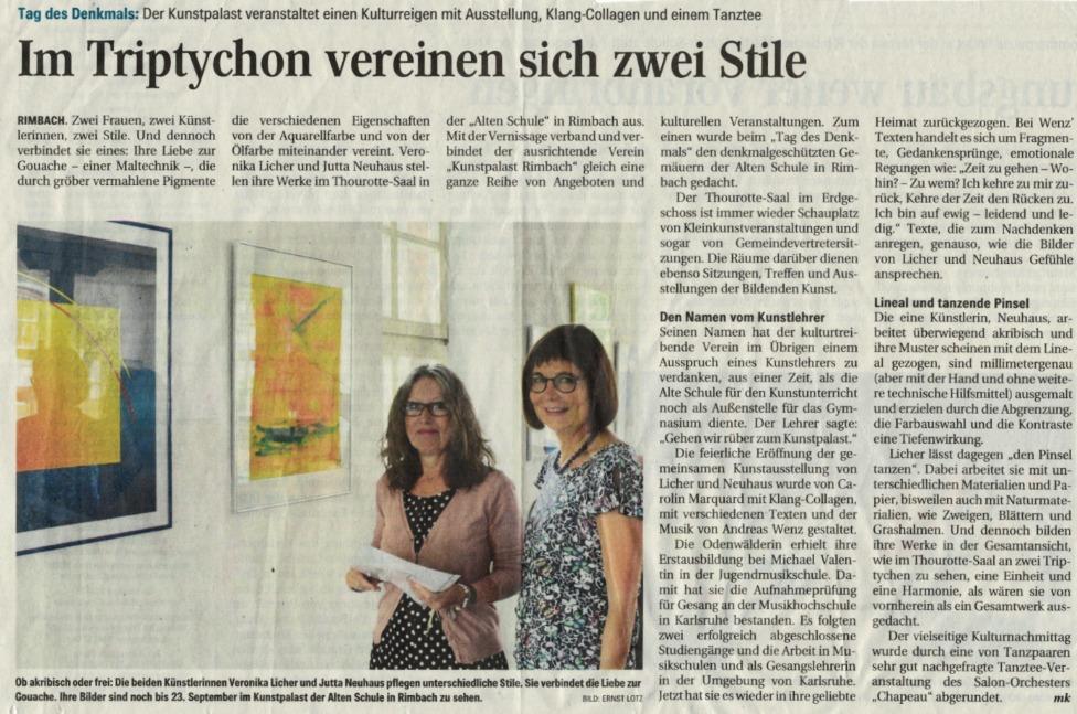 Jutta Neuhaus und Veronika Licher