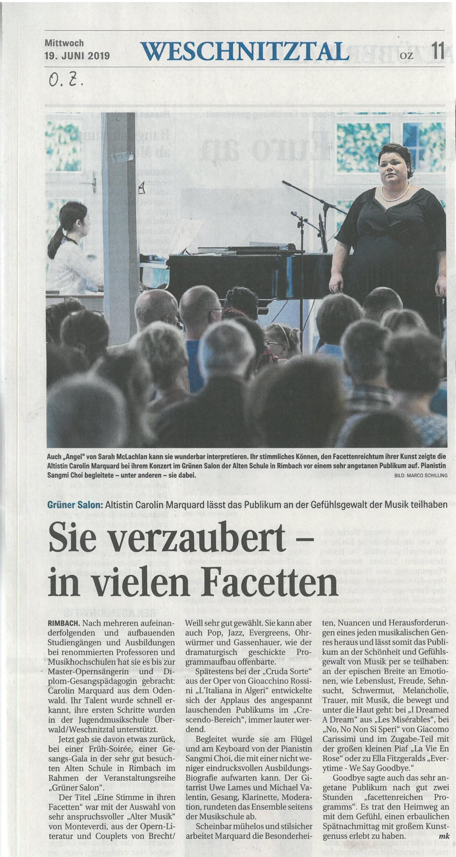 Konzert Caro 2019, OZ