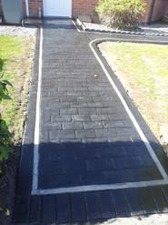 pattern concrete path