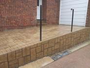 patterned concrete drive