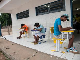 alunos, atividade escolar HN0403_karaja