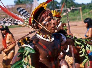 ritual dança do papagaio HN015_mehinaku