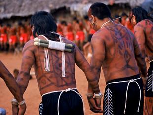 ritual de canto e dança HN0030_xavante