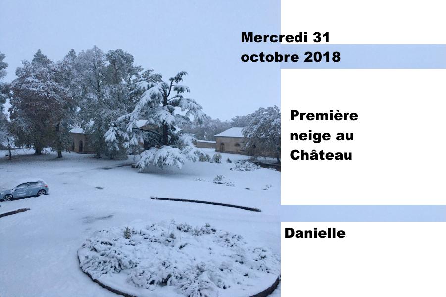 Première neige au Château