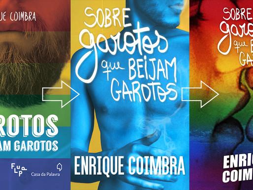 Nova capa do livro 'Sobre garotos que beijam garotos'