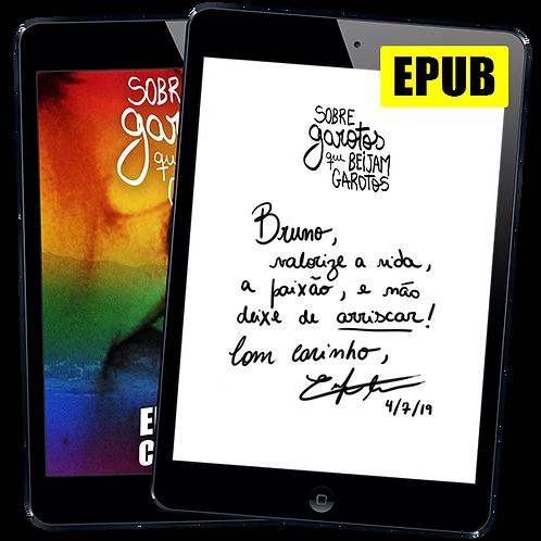 Livro EPUB Autografado: Sobre garotos que beijam garotos de Enrique Coimbra