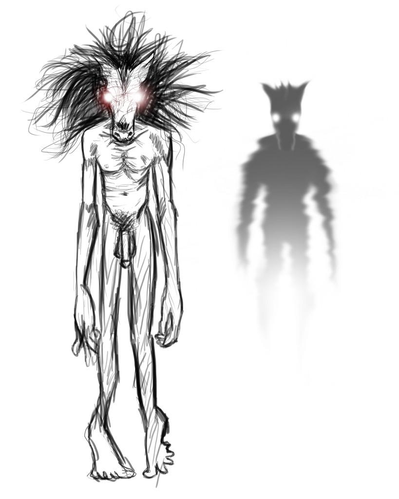 Ilustração conceitual do demônio Malatônio do livro Os Hereges de Santa Cruz