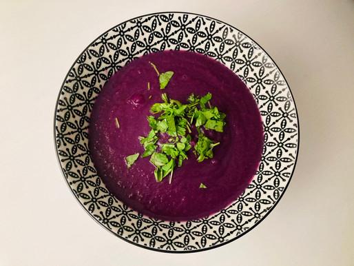 Rotkraut-Suppe