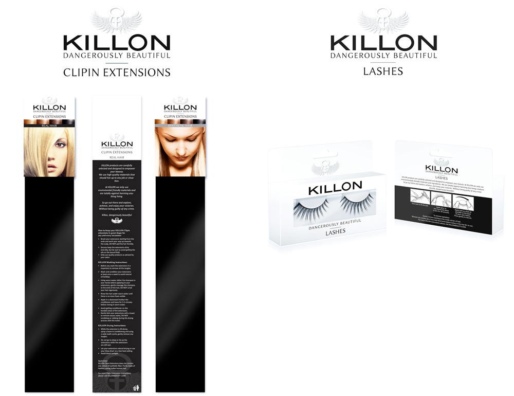 Killon beauty packaging