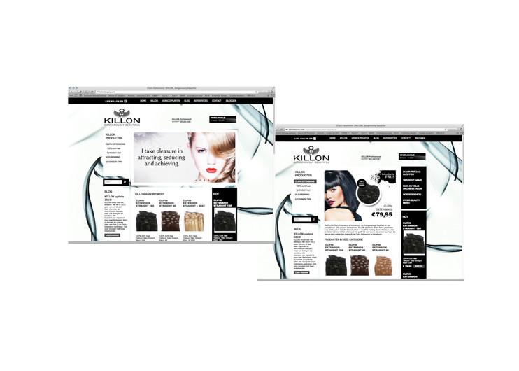 Killon beauty website & store