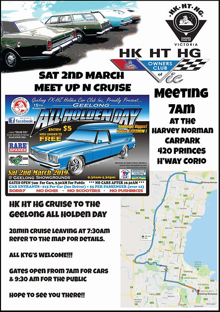 HKHTHG Club of Vic Geelong All Holden Da